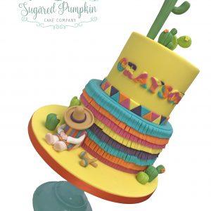 Fiesta Pinata birthday cake