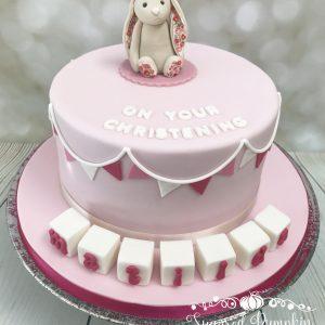 Pink Jellycat Bunny cake