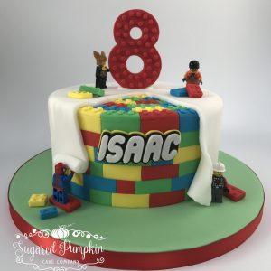 Lego reveal cake